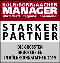 Siegel: STARKER PARTNER - Die größten Druckereien in Köln/Bonn/Aachen
