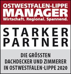 Siegel: STARKER PARTNER - Die größten Dachdecker und Zimmerer in Ostwestfalen-Lippe