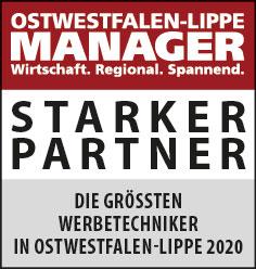 Siegel: STARKER PARTNER - Die größten Werbetechniker in Ostwestfalen-Lippe