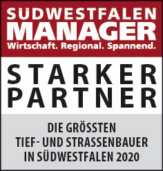 Siegel: STARKER PARTNER - Die größten Tief- und Straßenbauer in Südwestfalen