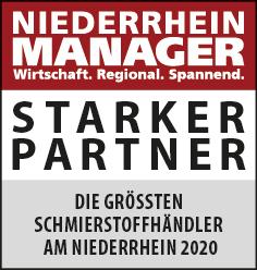 Siegel: STARKER PARTNER - Die größten Schmierstoffhändler am Niederrhein