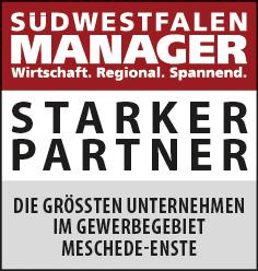 Siegel: STARKER PARTNER - Die größten Unternehmen im Gewerbegebiet Meschede-Enste