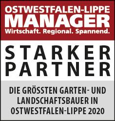 Siegel: STARKER PARTNER - Die größten Garten- und Landschaftsbauer in Ostwestfalen-Lippe