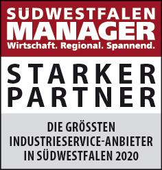 Siegel: STARKER PARTNER - Die größten Industrieservice-Anbieter in Südwestfalen