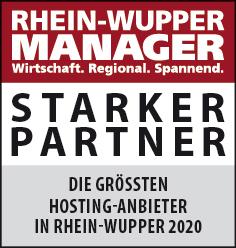 Siegel: STARKER PARTNER - Die größten Hosting-Anbieter in Rhein-Wupper
