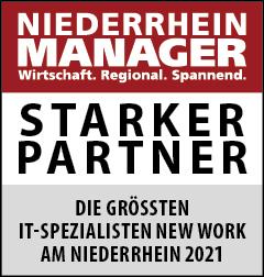 Siegel: STARKER PARTNER - Die größten IT-Spezialisten für New Work am Niederrhein