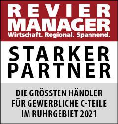 Siegel: STARKER PARTNER - Die größten Händler für gewerbliche C-Teile im Ruhrgebiet