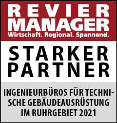Siegel: STARKER PARTNER - Die größten Ingenieurbüros für technische Gebäudeausrüstung (TGA) im Ruhrgebiet