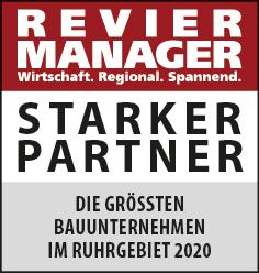 Siegel: STARKER PARTNER - Die größten Bauunternehmen im Ruhrgebiet