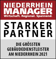 Siegel: STARKER PARTNER - Die größten Gebäudedienstleister am Niederrhein