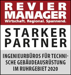 Siegel: STARKER PARTNER - Die größten Ingenieurbüros für technische Gebäudeaustattung (TGA) im Ruhrgebiet