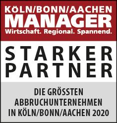 Siegel: STARKER PARTNER - Die größten Abbruchunternehmen in Köln/Bonn/Aachen