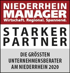 Siegel: STARKER PARTNER - Die größten Unternehmensberater am Niederrhein