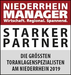 Siegel: STARKER PARTNER - Die größten Toranlagenspezialisten am Niederrhein