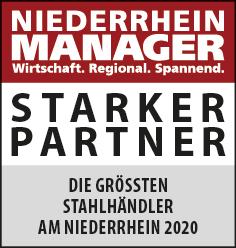Siegel: STARKER PARTNER - Die größten Stahlhändler am Niederrhein