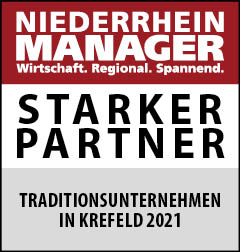 Siegel: STARKER PARTNER - Traditionsunternehmen in Krefeld