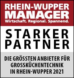 Siegel: STARKER PARTNER - Die größten Anbieter von Großküchentechnik in Rhein-Wupper