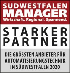 Siegel: STARKER PARTNER - Die größten Anbieter für Automatisierungstechnik in Südwestfalen