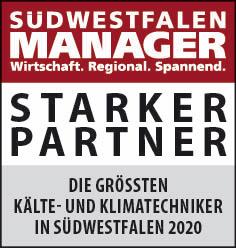 Siegel: STARKER PARTNER - Die größten Kälte- und Klimatechniker in Südwestfalen