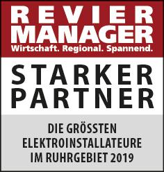 Siegel: STARKER PARTNER - Die größten Elektroinstallateure im Ruhrgebiet