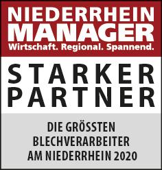 Siegel: STARKER PARTNER - Die größten Blechverarbeiter am Niederrhein