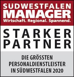 Siegel: STARKER PARTNER - Die größten Personaldienstleister in Südwestfalen