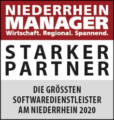 Siegel: STARKER PARTNER - Die größten Softwaredienstleister am Niederrhein