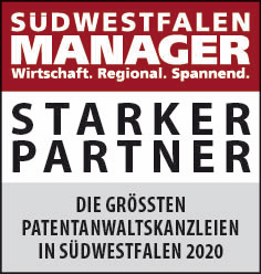 Siegel: STARKER PARTNER - Die größten Patentanwaltskanzleien in Südwestfalen