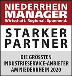 Siegel: STARKER PARTNER - Die größten Industrieservice-Anbieter am Niederrhein
