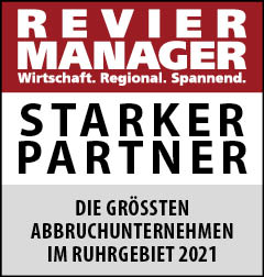 Siegel: STARKER PARTNER - Die größten Abbruchunternehmen im Ruhrgebiet