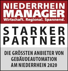 Siegel: STARKER PARTNER - Die größten Anbieter für Gebäudeautomation am Niederrhein