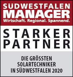 Siegel: STARKER PARTNER - Die größten Solartechniker in Südwestfalen