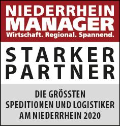 Siegel: STARKER PARTNER - Die größten Spediteure und Logistiker am Niederrhein