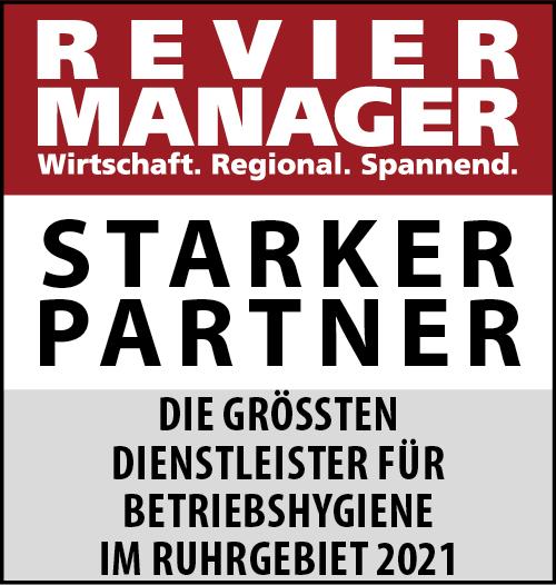 Siegel: STARKER PARTNER - Die größten Dienstleister für Betriebshygiene im Ruhrgebiet