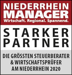 Siegel: STARKER PARTNER - Die größten Steuerberater und Wirtschaftsprüfer am Niederrhein