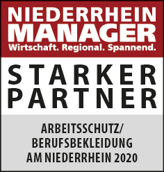 Siegel: STARKER PARTNER - Die größten Händler von Arbeitsschutz- und Berufsbekleidung am Niederrhein