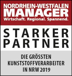 Siegel: STARKER PARTNER - Die größten Kunststoffverarbeiter in NRW