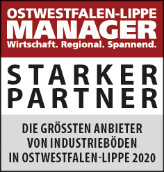 Siegel: STARKER PARTNER - Die größten Anbieter von Industrieböden in Ostwestfalen-Lippe
