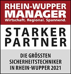 Siegel: STARKER PARTNER - Die größten Sicherheitstechniker in Rhein-Wupper