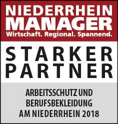 Siegel: STARKER PARTNER - Die größten Hersteller von Arbeitsschutz- und Berufsbekleidung am Niederrhein