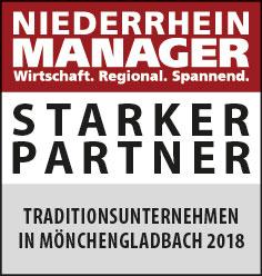 Siegel: STARKER PARTNER - Traditionsunternehmen in Mönchengladbach