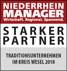 Siegel: STARKER PARTNER - Traditionsunternehmen in Wesel