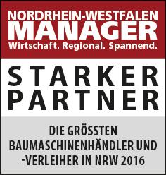Siegel: STARKER PARTNER - Die größten Baumaschinenhändler und -verleiher in NRW