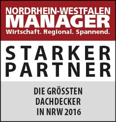 Siegel: STARKER PARTNER - Die größten Dachdeckereien und Zimmereien in NRW