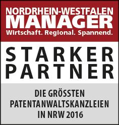 Siegel: STARKER PARTNER - Die größten Patentanwaltskanzleien in NRW