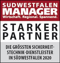 Siegel: STARKER PARTNER - Die größten Sicherheitstechnik-Dienstleister in Südwestfalen