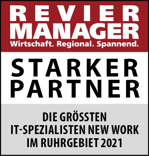 Siegel: STARKER PARTNER - Die größten IT-Spezialisten für New Work im Ruhrgebiet
