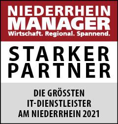 Siegel: STARKER PARTNER - Die größten IT-Dienstleister am Niederrhein