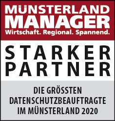 Siegel: STARKER PARTNER - Die größten Datenschutzbeauftragten im Münsterland
