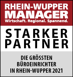 Siegel: STARKER PARTNER - Die größten Büroeinrichter in Rhein-Wupper